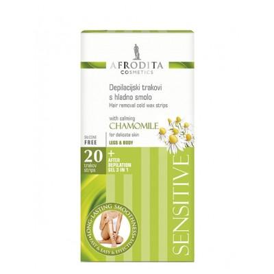 DEPILATION Sensitive 20 benzi + gel calmant 20 ml pentru piele sensibila